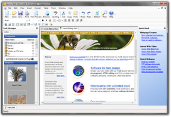 Aurora Web Editor 2008 Professional Screenshot