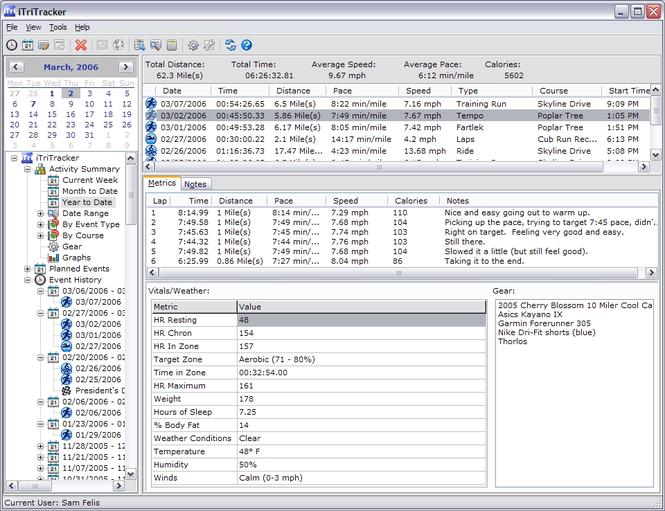 iTriTracker Screenshot