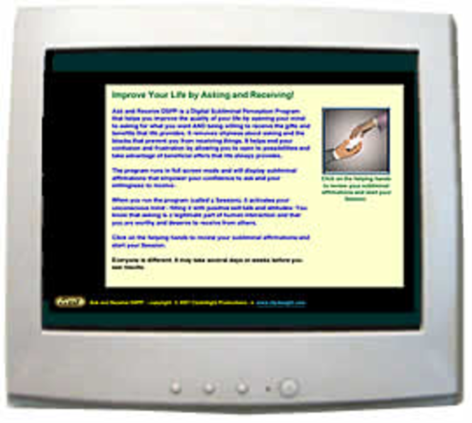 Ask and Receive DSPP Subliminal Program Screenshot