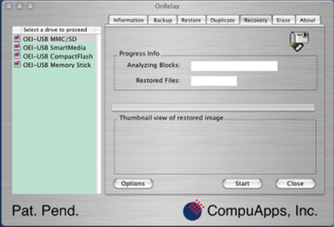 CompuApps OnBelay V1 For MAC OS X Screenshot