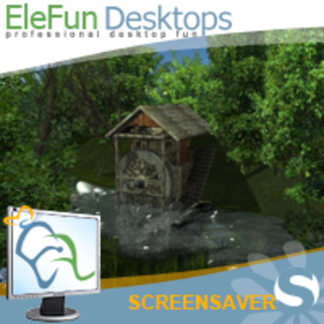 Water Mill - Animated Screensaver Screenshot 1