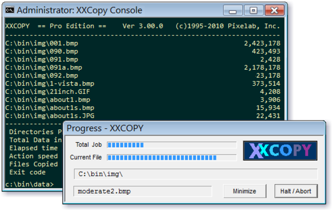 XXCOPY Screenshot 1