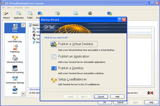 2X VirtualDesktopServer Screenshot