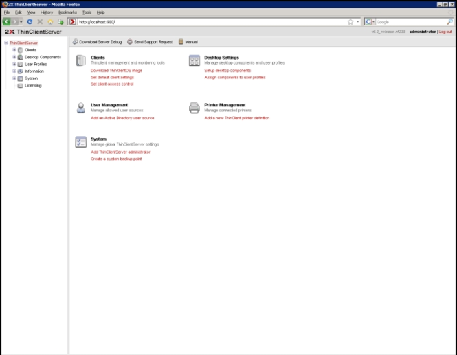 2X ThinClientServer Screenshot 1