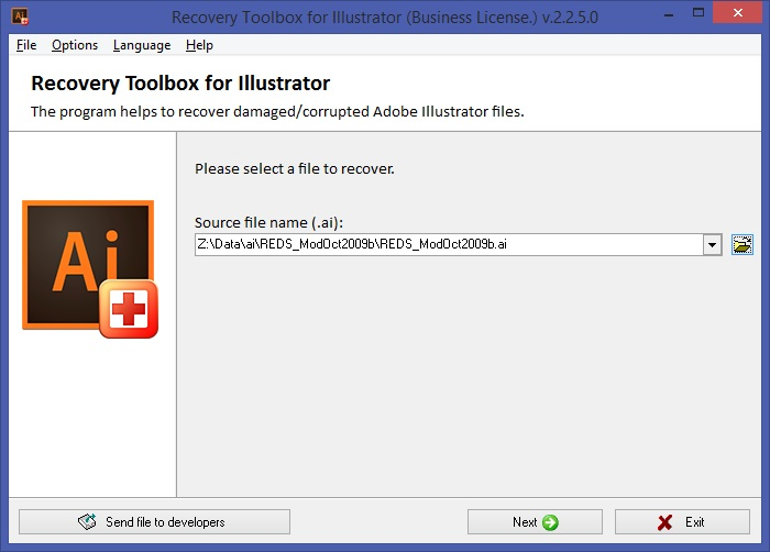 Recovery Toolbox for Illustrator Screenshot 2