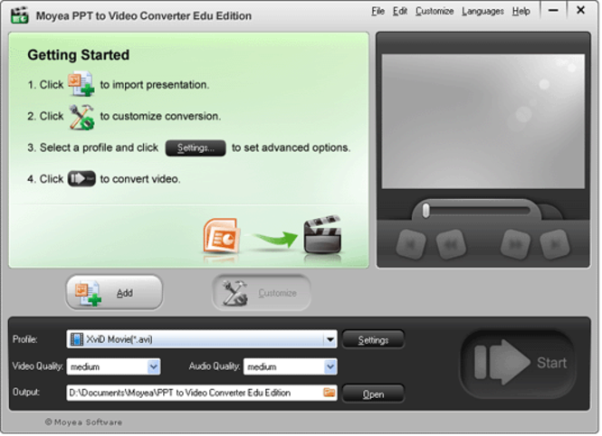 Moyea PPT to Video Converter Edu Edition Screenshot 1