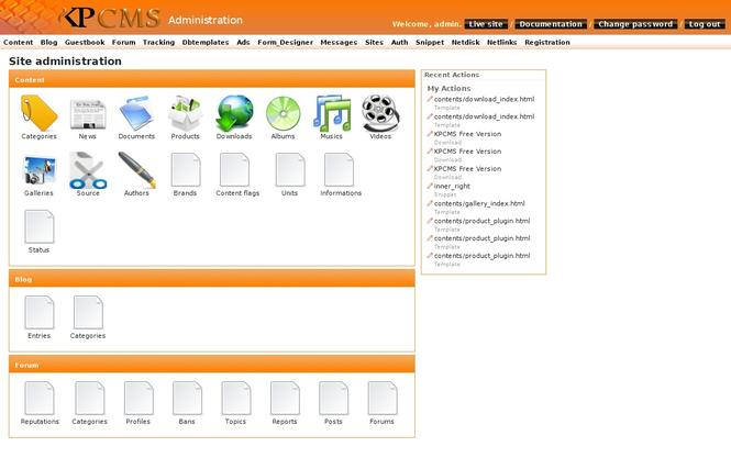 KPCMS - Free Screenshot 1
