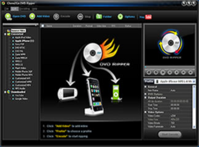 Clone2Go DVD Ripper Screenshot