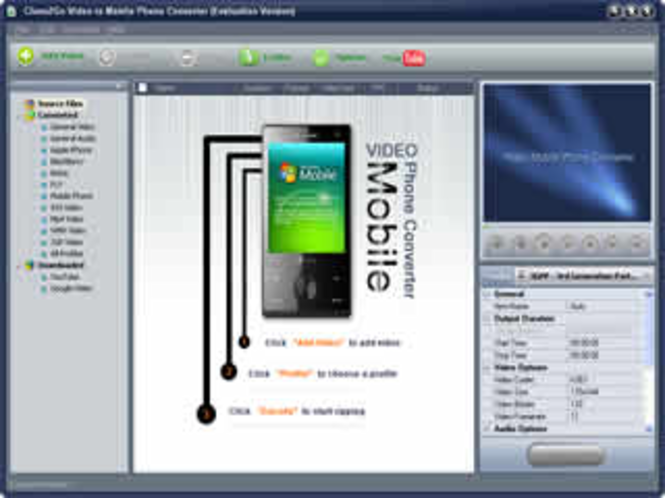 Clone2Go Video to Mobile Phone Converter Screenshot 1