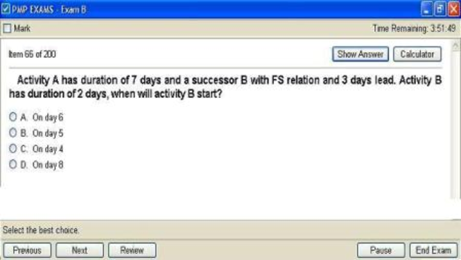 PMP- Exam simulation software Screenshot 1