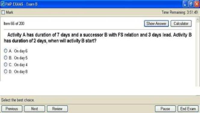CAPM- Exam simulation software Screenshot 1