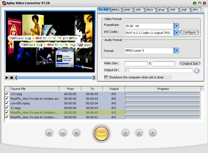 Aplus Video converter Screenshot 3
