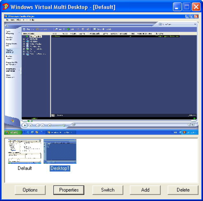 WinVMD - Windows Virtual Multi Desktop Screenshot