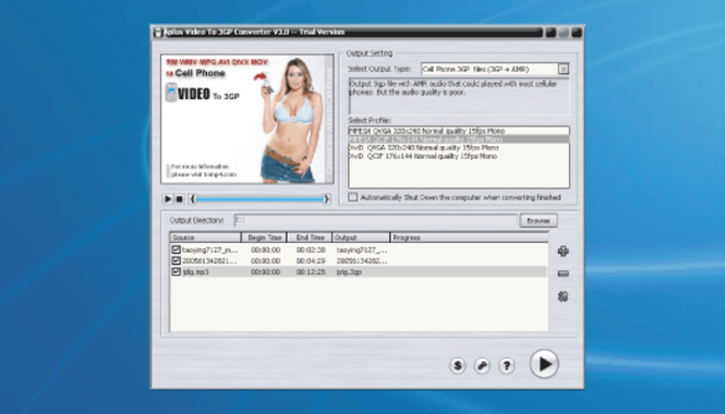 Aplus Video to 3GP Converter Screenshot