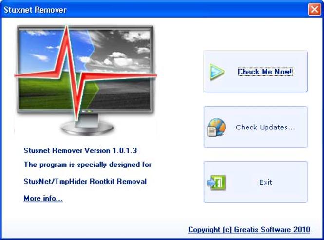 StuxnetRemover Screenshot 1
