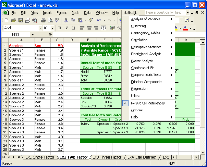 statistiXL Screenshot 1