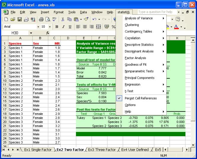 statistiXL Screenshot