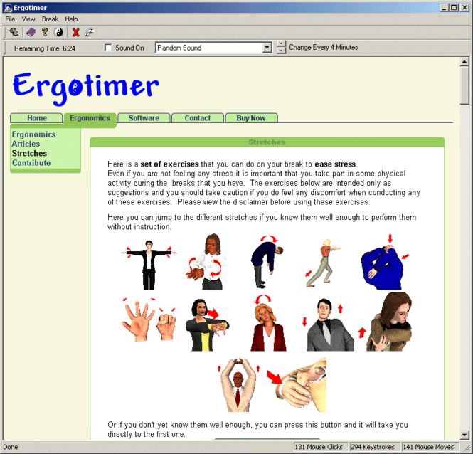 Ergotimer Screenshot