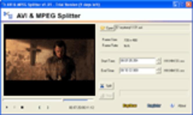AVI/MPEG/RM/WMV Splitter Screenshot