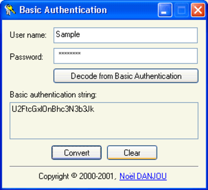 Authentication Screenshot