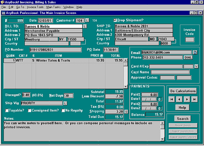AnyBook Classic 2: Publishing Business Screenshot