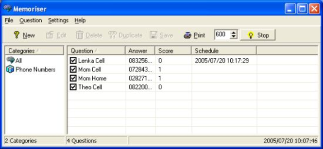 Memoriser Screenshot 1