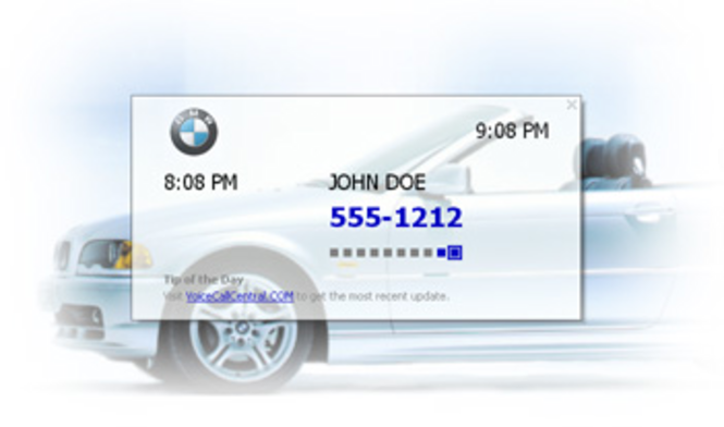 fonXL Call Display Screen Saver Screenshot