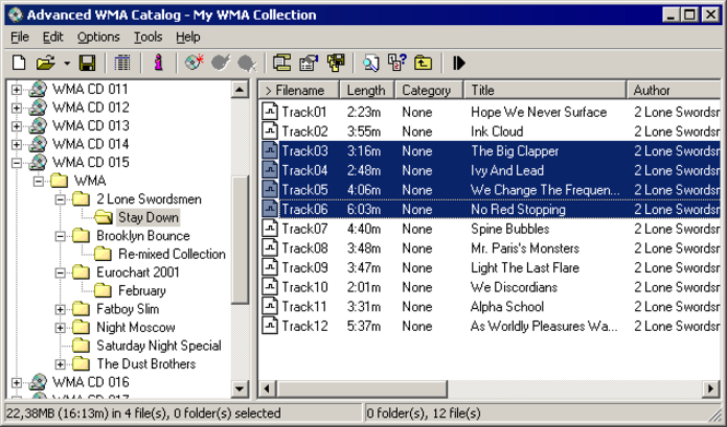 Advanced WMA Catalog Screenshot 2