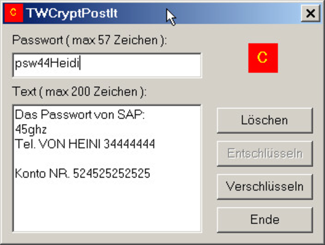 TWCrypt Screenshot