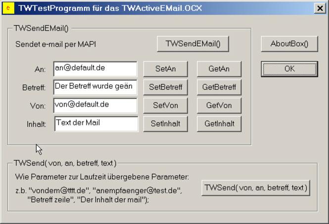 TWActiveEMail Screenshot 1