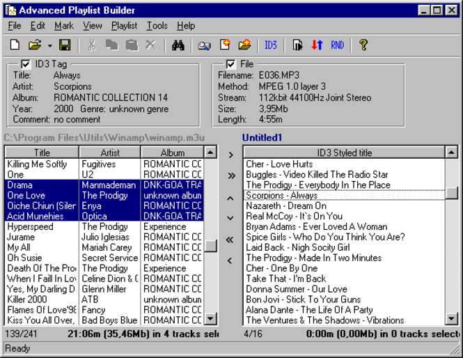 Advanced Playlist Builder Screenshot 1