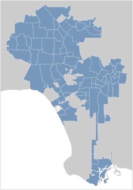 Los Angeles City Map Locator Screenshot 1