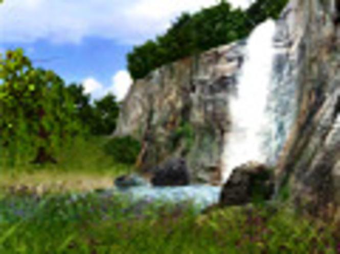 3D Wasserfall Bildschirmschoner Screenshot