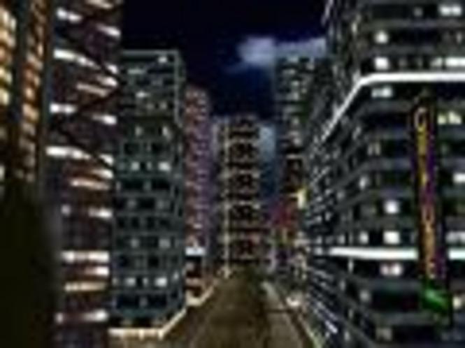 Nächtliche Stadt 3D Bildschirmschoner Screenshot 1