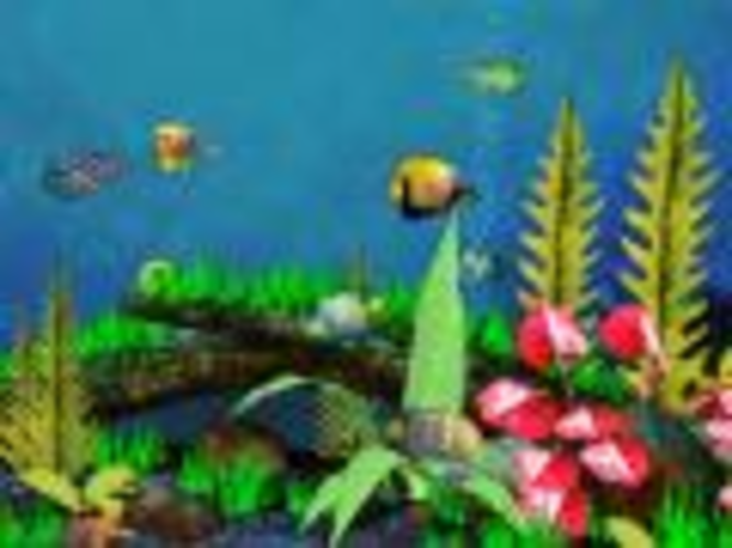 3D Strandhaus Aquarium Bildschirmschoner Screenshot