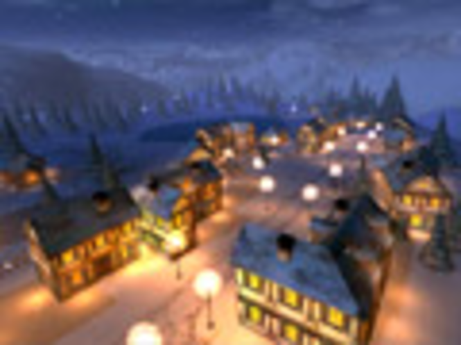 Winternacht 3D Bildschirmschoner Screenshot 1