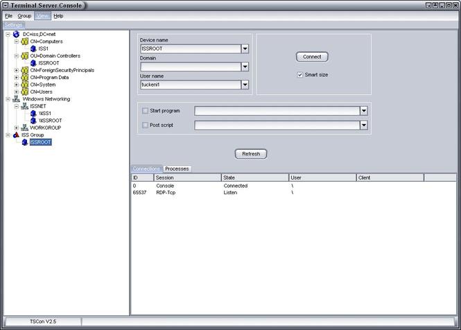 TSCon Screenshot