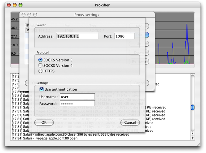 Proxifier for Mac Screenshot