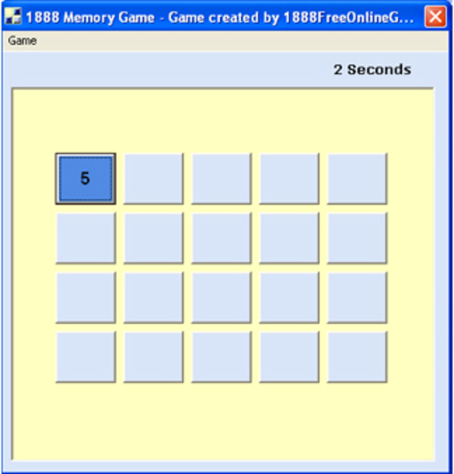 1888 Memory Game Screenshot