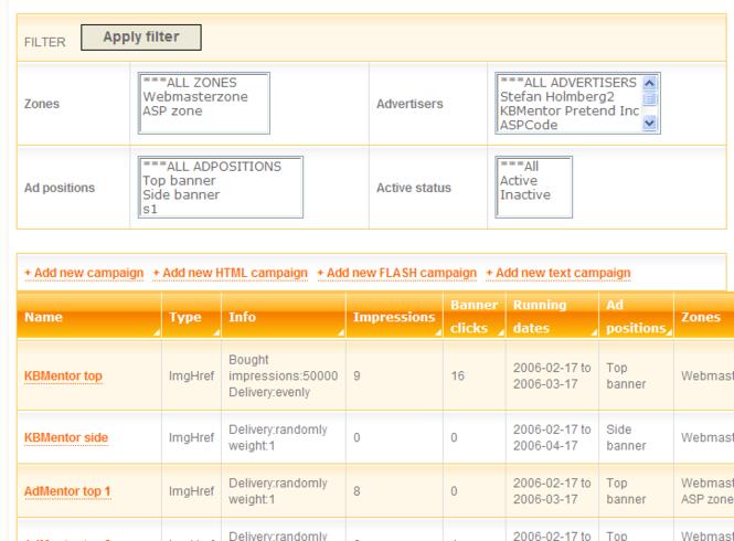 AdMentor PRO Screenshot
