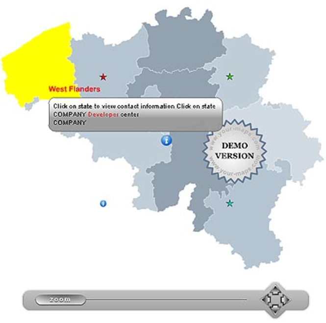 Zoom Map of Belgium Screenshot