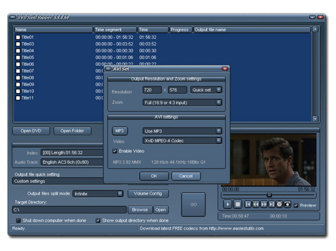 DVD Xvid Ripper Screenshot 1