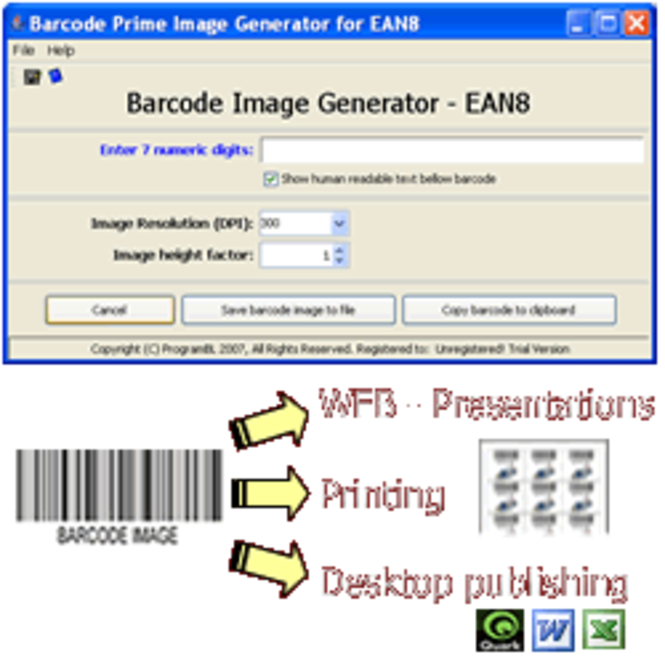 EAN8 barcode prime image generator Screenshot