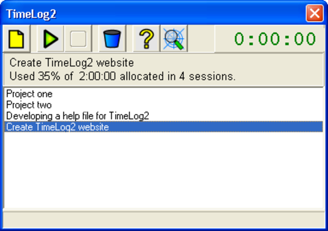TimeLog2 Screenshot