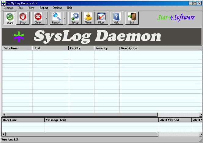 Star SysLog Daemon Screenshot