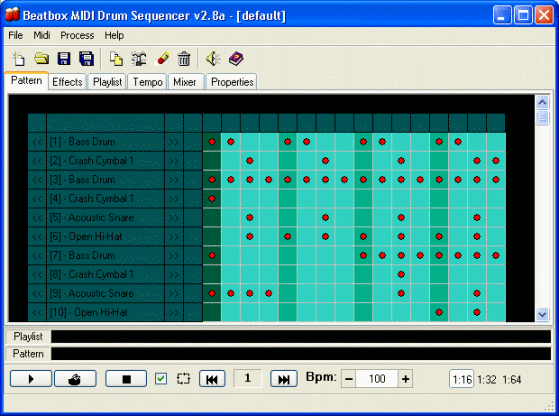Beatbox MIDI Drum Sequencer Screenshot