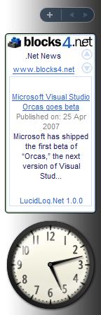 .NET News Vista Gadget Screenshot 1