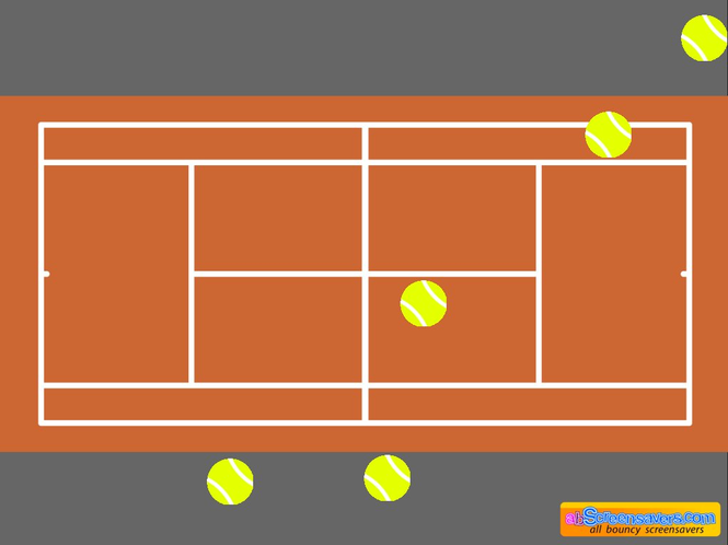 Tennis screensaver Screenshot