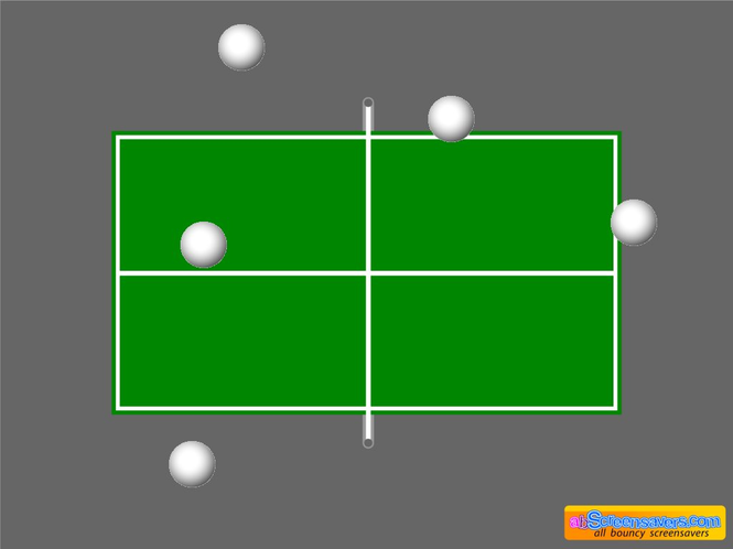 Table tennis screensaver Screenshot