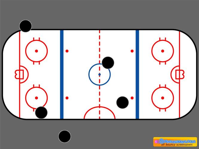 Ice hockey screensaver Screenshot 1